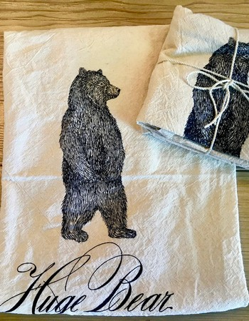Huge Bear Tea Towel
