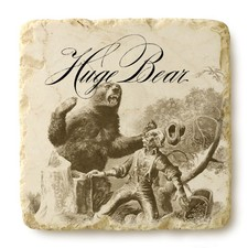 Huge Bear Wines Logo Coaster